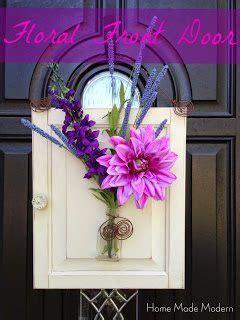 rain boot wreath home  modern