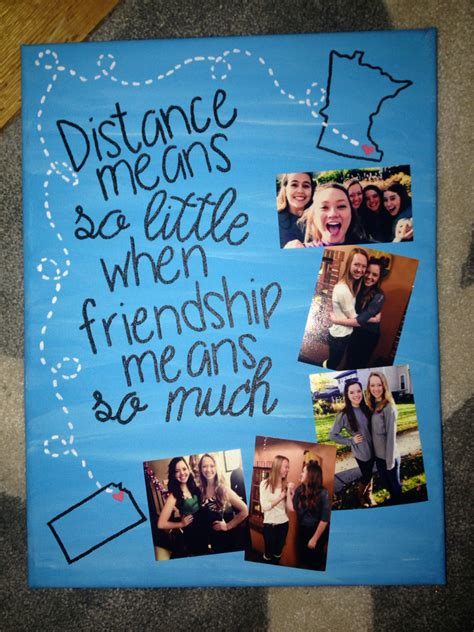 diy canvas best friend gift painting on canvas
