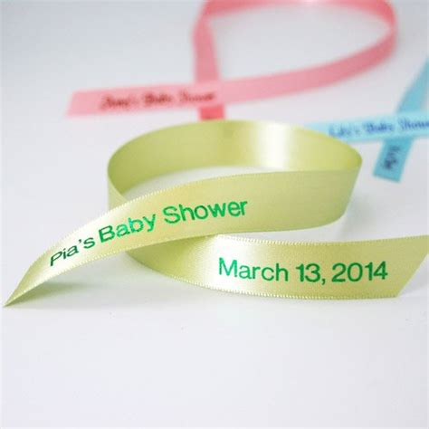 Baby Shower Favor Ribbons by Personalized Favor Ribbon