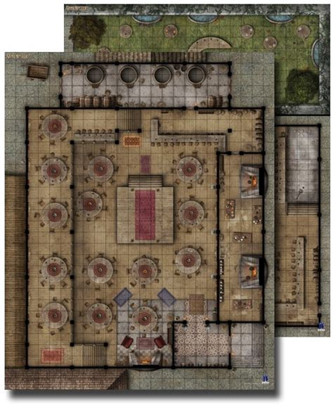 D D Mat by Paizo Gamemastery Flip Mat Tavern