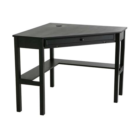Black Wooden Computer Desk Wood Corner Computer Desk Office Furniture