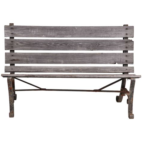 wrought iron bench old wrought iron two seater park bench at 1stdibs