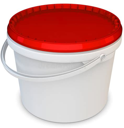 paint plastic bathtub 3d blank white tub paint plastic bucket container stock illustration image 39375406