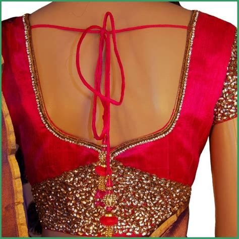 neck pattern blouse design sarees blouse back neck designs with borders for 2016