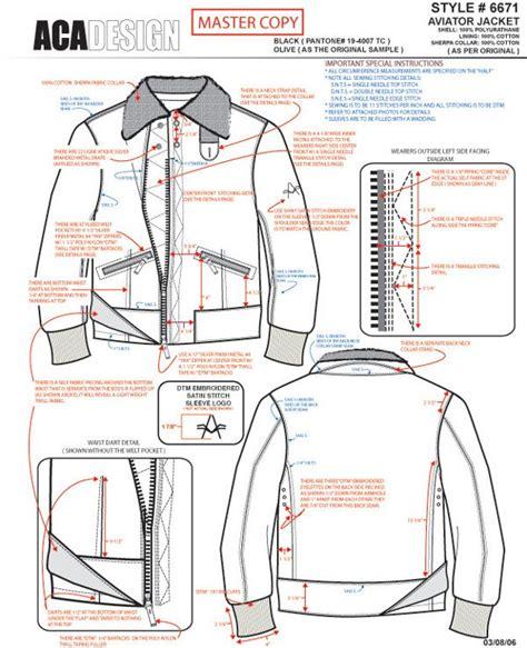 Tech Pack Exle Work 1 On Behance Tech Pack Fashion Design Template Jacket Pattern Tech Pack Template Vector