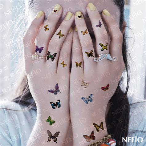 tattoo hand mini women sexy temporary tattoo butterfly pattern makeup