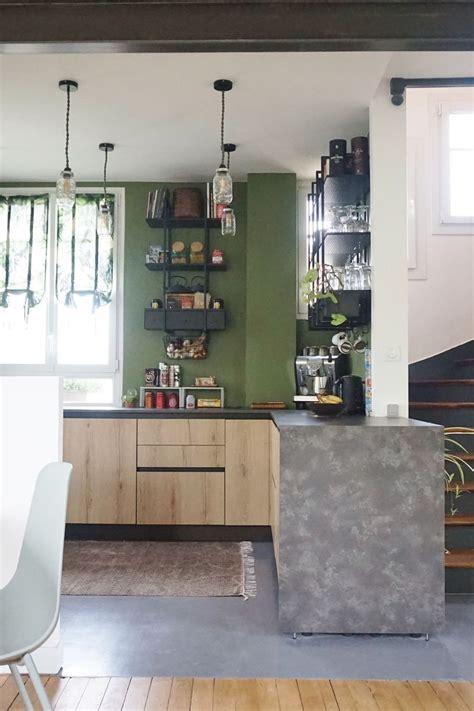 cuisine peinte en vert avant apr 232 s la r 233 novation stup 233 fiante d une meuli 232 re