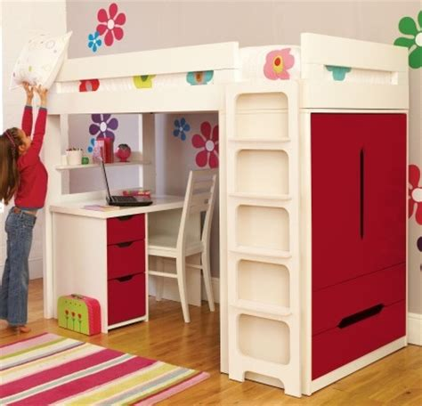 Childrens High Sleeper Beds With Wardrobe by Work Rest Play Junior Rooms