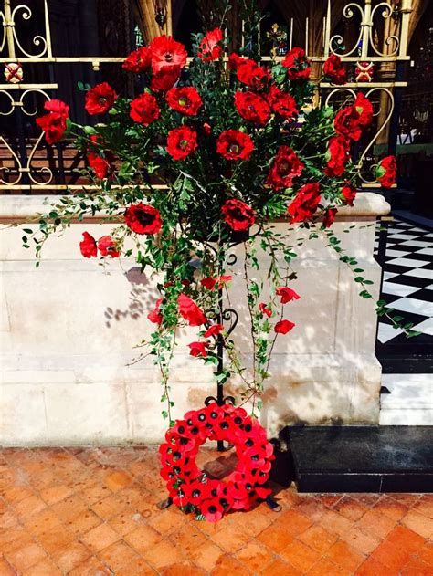 remembrance sunday at st michael and all angels croydon church pedestal arrangements