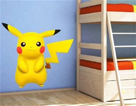 pokemon bedroom accessories pikachu decal removable wall sticker home decor art kids