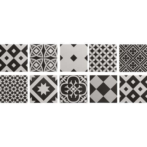 carrelage int 233 rieur gatsby artens en gr 232 s noir et blanc 20 x 20 cm leroy merlin surfaces