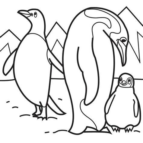 emperor penguin coloring page for kids coloring pages
