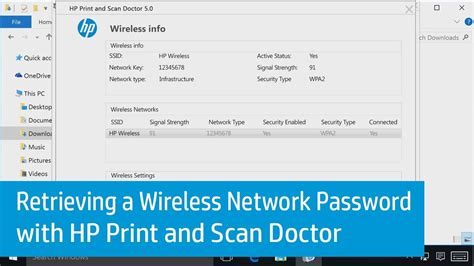 resetting wifi network password retrieving a wireless network password with hp print and