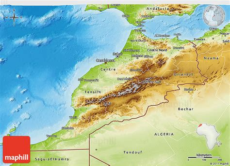 physical map of morocco physical 3d map of morocco