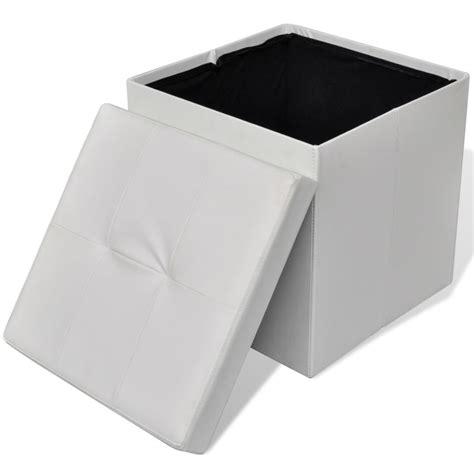 taburete otomano taburete blanco plegable de almacenamiento otomano