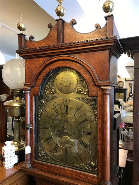 oak  day grandfather clock la loveantiquescom
