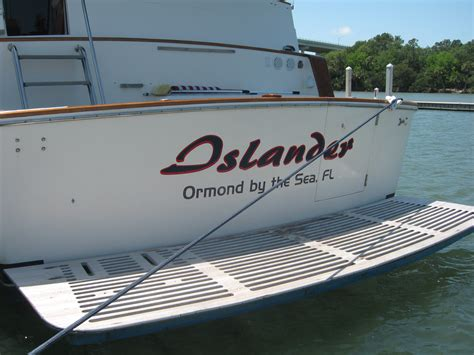 boat lettering signs boat lettering palm coast signs