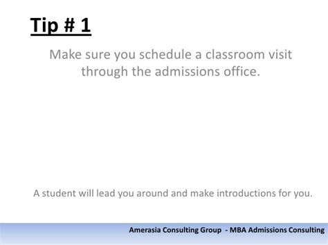 Questions To Ask Mba Admissions Officers by Tips For Maximizing Your Business School Visits