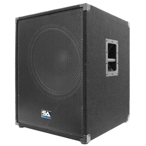 dj speaker box cabinet seismic audio aftershock 18 powered pa 18 inch subwoofer