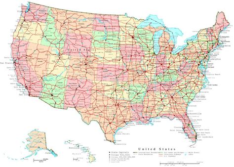printable map of the united states with state names united states printable map