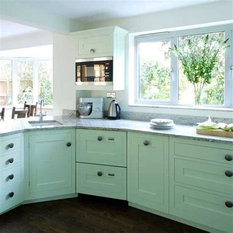 Turquoise Painted Kitchen Cabinets Dans Le Lakehouse August 2013