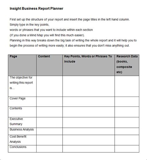 business report format template 35 business report template free sle exle