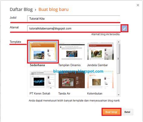 membuat blog website gratis cara membuat blog website gratis di blogger blogspot