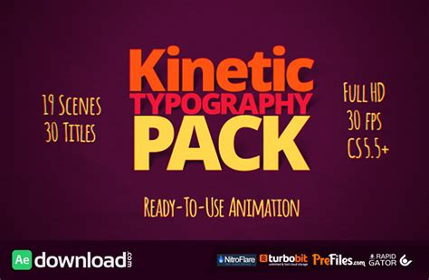 kinetic typography pack 10997449 videohive template