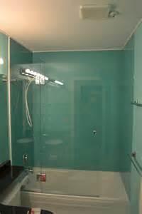 Frameless Bathtub Door European Style Back Painted Glass Walls Kristy Glass Co