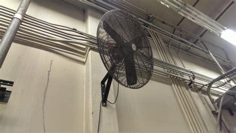 wall mount shop fan lot 75 dayton wall mounted shop fan wirebids
