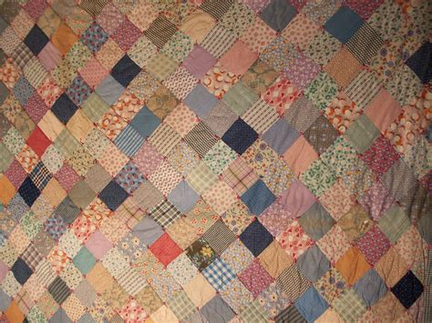 Patchwork Coverlet - antique patchwork quilt