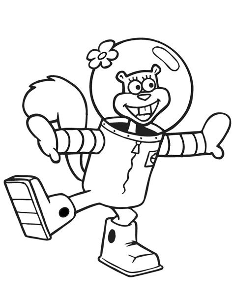 sandy cheeks coloring pages coloring home