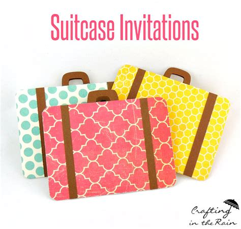 How To Make A Paper Suitcase - paper suitcase invitations inspiration diy