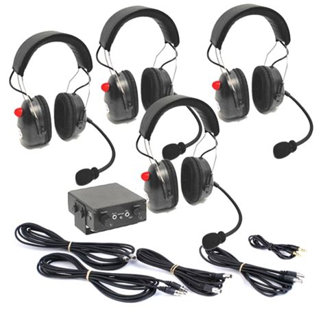 airboat intercom headsets four place air boat 550 intercom w 4 over the head headsets
