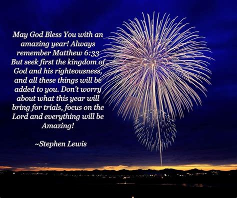 god bless you all and happy new year stephen lewis for