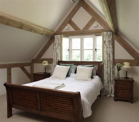 vaulted ceiling bedroom oak framing www borderoak com 17 best images about double story oak frame on pinterest