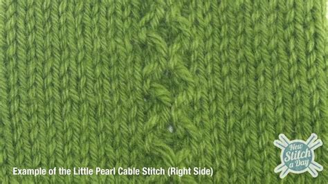 how to knit and pearl the pearl cable stitch knitting stitch 171