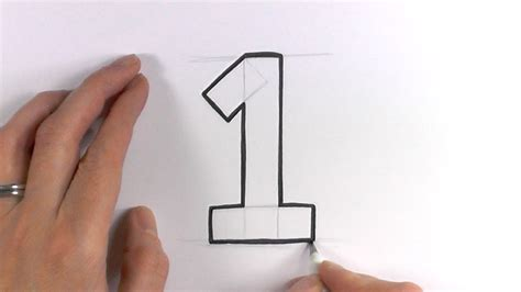 how to draw an i how to draw a number 1
