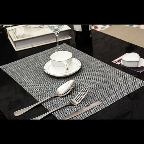 Dining Table Placemat 6pcs Set Pvc Insulation Bowl Tableware Placemats Plate