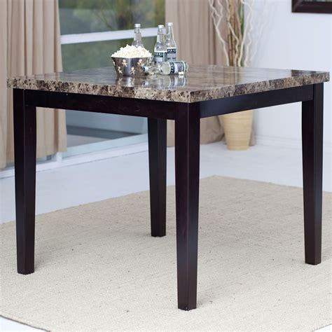 contemporary 42 x 42 inch counter height dining table with