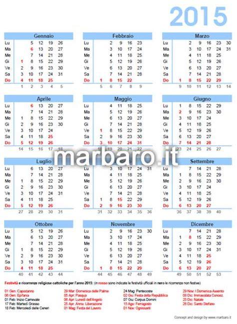 Calendario Giorni Festivi 2015 Italia Calendario Italiano 2015 Con I Giorni Festivi E Le Ricorrenze