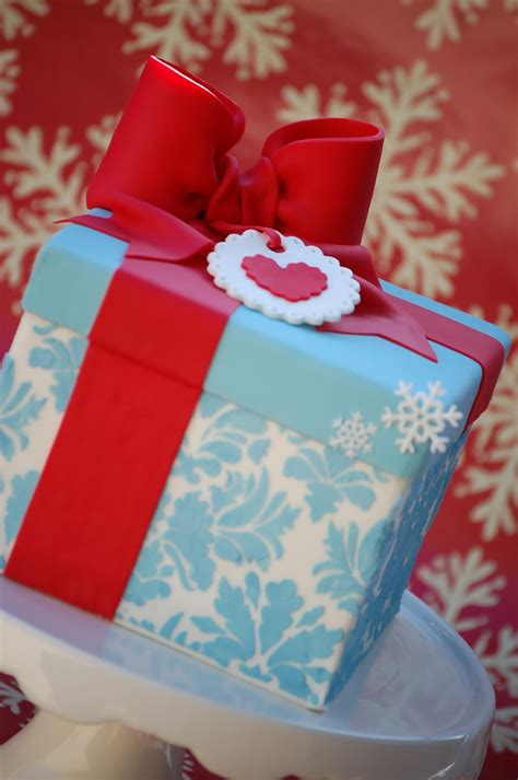 christmas gift box fondant cake instructions gift box cakecentral