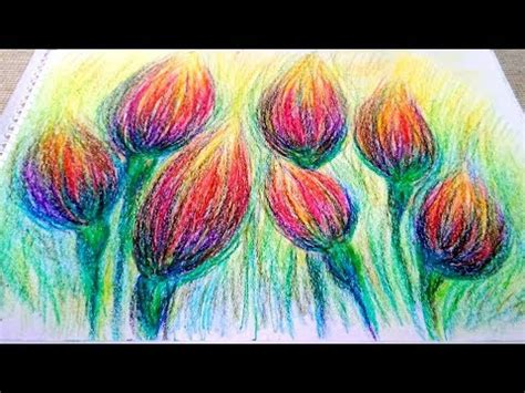 Wax Crayons Drawing