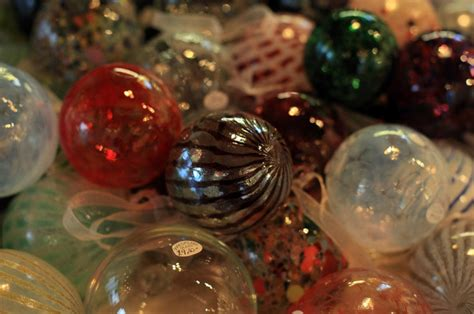 traditional glass christmas baubles are made by glass