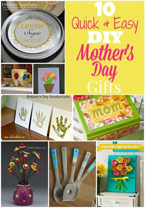 diy projects for mom 10 easy diy s day gifts diy ideas easy