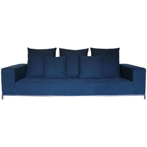 b b italia george sofa b b italia george four seat sofa in mid blue linen