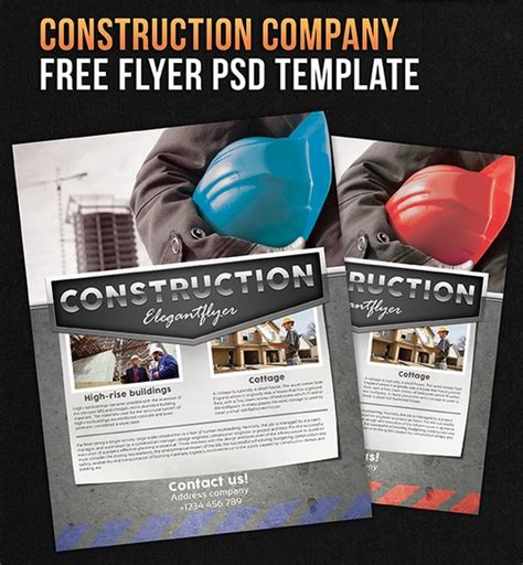 construction flyer templates free 50 corporate flyer design inspiration for saudi companies