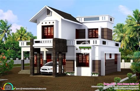 simple modern home simple 1524 sq ft house plan kerala home design and