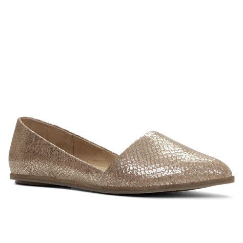 flat shoes gold aldo welari pointy toe slip on flat shoes in gold lyst