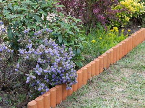 flower bed edging stone decor contemporary design of landscape edging ideas for